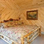 King bed and beautiful woodwork