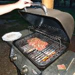 Easy to use propane grill (every cabin)