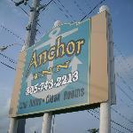 Anchor Inn Road Sign