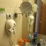 Hairdryer in bathroom