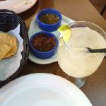 margarita special with complimentary salsas