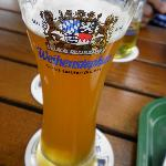 ビアガーデンで飲んだビール