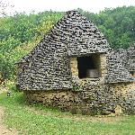 A stone building