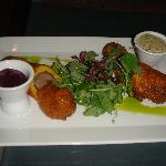 Food from the lounge: Wild boar and duck corn dogs
