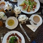 rosti and caesar salad