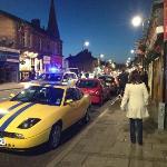 police moving people on on opening weeken in Prestwick