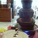 Chocolate fountain appeared on 2 nights