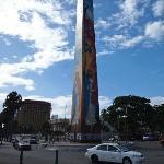 Obelisk memorializing the Butterfly Sisters, along the Malecon, Santo Domingo, Dominican Republi