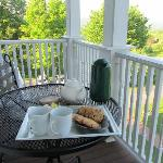 Tea and cookies on our private balcony!