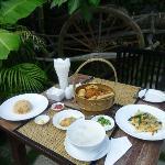 Great breakfast! (Asian breakfast on the photo)