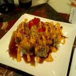 Volcano Roll (fish swimming in mayo)