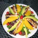 gorgeous salads with mango and avocado!!
