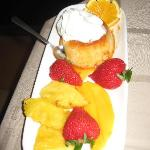 beautiful fruit dessert