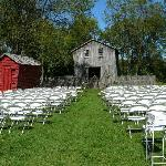 set up for outdoor ceremony
