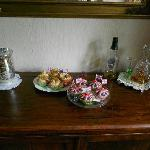 Lovely home made cakes & scones for the guests