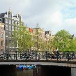 View from right hand side front door step across Singel Canal
