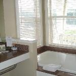 Jetted tub in suite