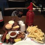 Mixed grill and house wine