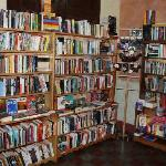 The fiction and literature section along with some dictionaries.