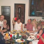 Enjoying dinner in the condo!