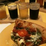 Cosmic Pizza with the Beer Flight sampler
