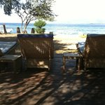 Chairs overlooking the ocean at Juliantos
