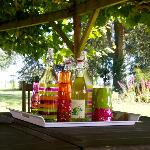 Drinks available in the garden