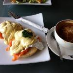Egg benedict with salmon