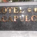 the hotel sign
