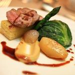 Duo of Welsh lamb, chateaux potato, Maderia jus