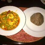 seafood okra with amala
