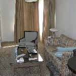 Living room, little natural light