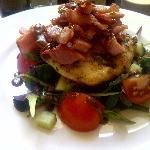 Delicious chicken and bacon salad