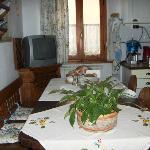 La cucina per gli ospiti