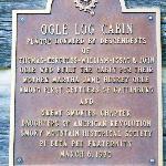 Ogle Cabin Plaque