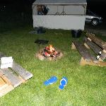 night time campfire
