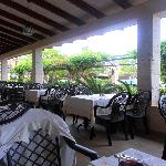 Outside terrace area at the buffet restaurant