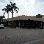 Outside view of the restaurant from orange avenue driving west