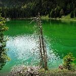 emerald colored lake