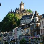 Cochem Castle, Hotel Noss just below. Beautiful !