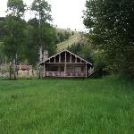 The Aspen cabin, Hidden behind, you can see what I think was the Ponderosa cabin.