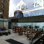 outdoor rooftop bar