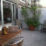 working on my rooftop patio in Rama Suite!