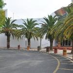 The driveway in front of the African American Research Library and Cultural Center
