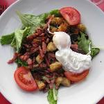 Salade Lyonnais - hearty salad enough for a meal in and of itself