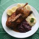 1/2 Roast Duck, Red Cabbage, Sauerkraut, Czech Dumplings (2 kinds)