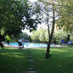 Zwembad en klein deel van de tuin