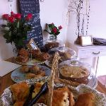 Millie and Me's freshly baked selection of cakes, pastries and scones.