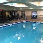 pool hot tub and little gym
