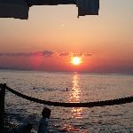 meraviglioso tramonto dal ristorante Il Falco